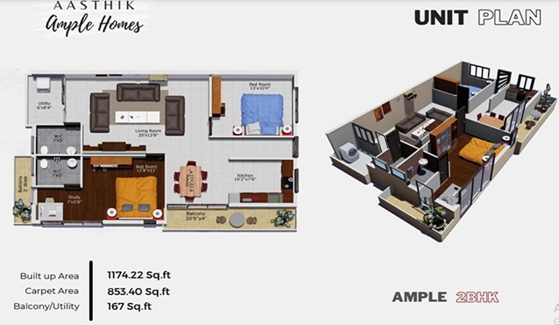 Ample Homes in Mysore | Best luxury 2BHK apartments in Mysore